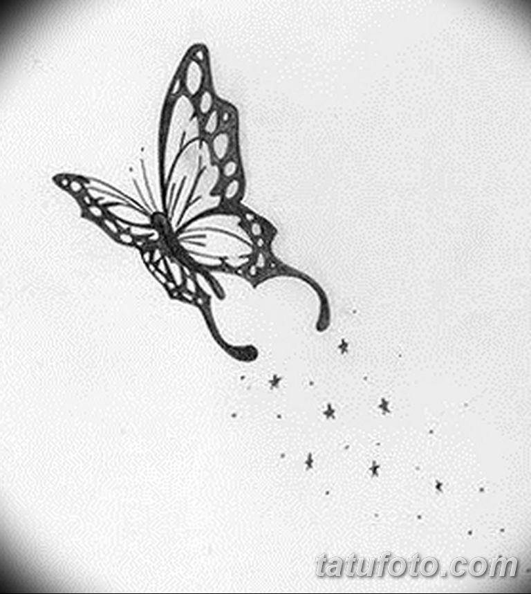 черно белый эскиз тату рисункок бабочка 11.03.2019 №084 - tattoo sketch - tatufoto.com