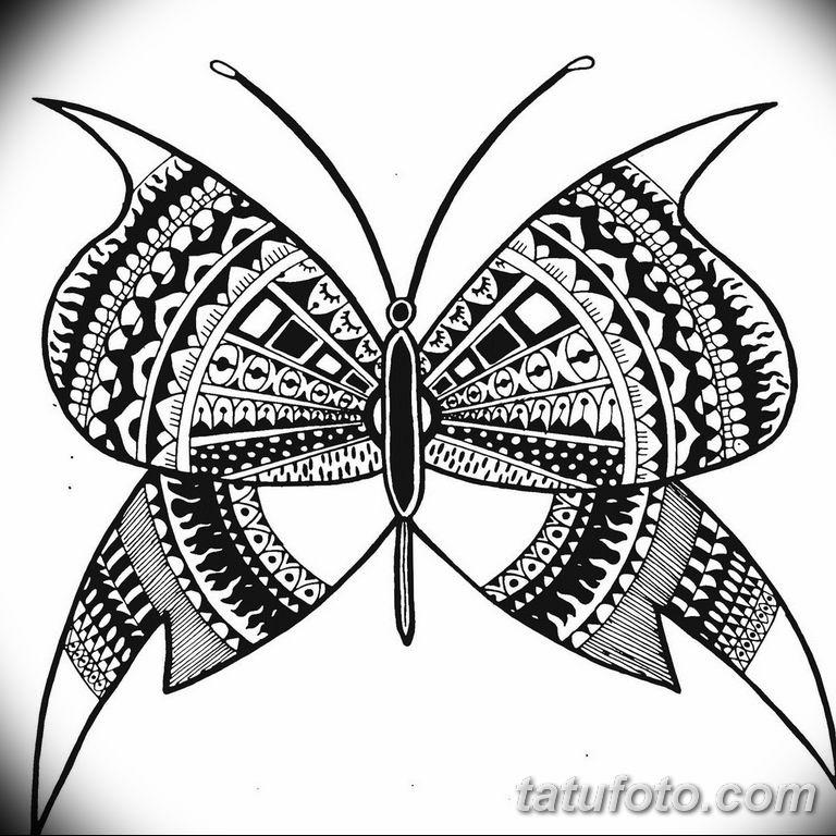 черно белый эскиз тату рисункок бабочка 11.03.2019 №088 - tattoo sketch - tatufoto.com