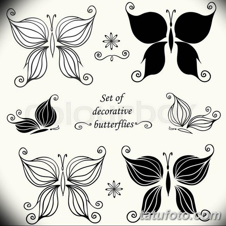 черно белый эскиз тату рисункок бабочка 11.03.2019 №094 - tattoo sketch - tatufoto.com
