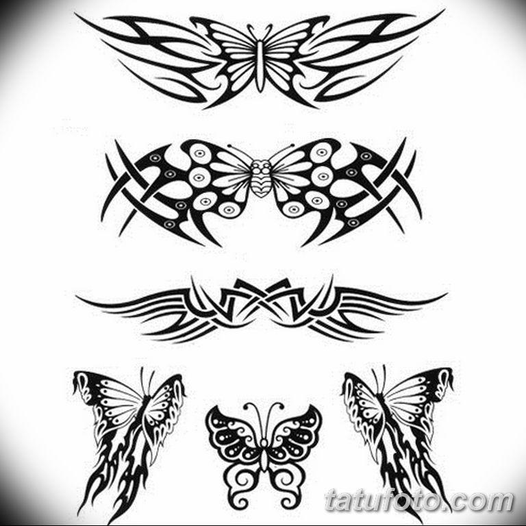 черно белый эскиз тату рисункок бабочка 11.03.2019 №096 - tattoo sketch - tatufoto.com