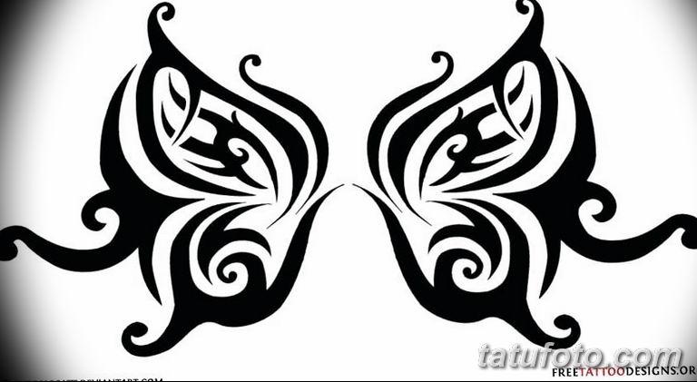 черно белый эскиз тату рисункок бабочка 11.03.2019 №097 - tattoo sketch - tatufoto.com
