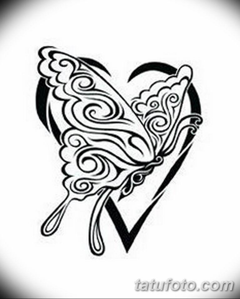 черно белый эскиз тату рисункок бабочка 11.03.2019 №101 - tattoo sketch - tatufoto.com