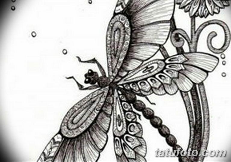 черно белый эскиз тату рисункок бабочка 11.03.2019 №105 - tattoo sketch - tatufoto.com
