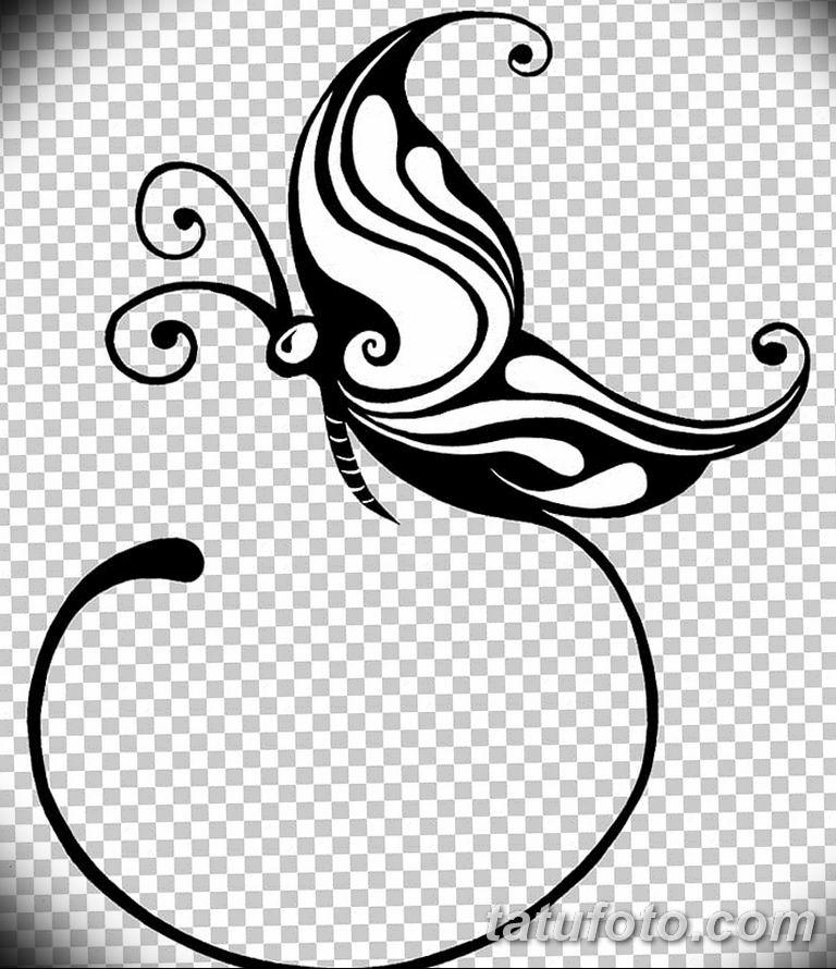 черно белый эскиз тату рисункок бабочка 11.03.2019 №111 - tattoo sketch - tatufoto.com