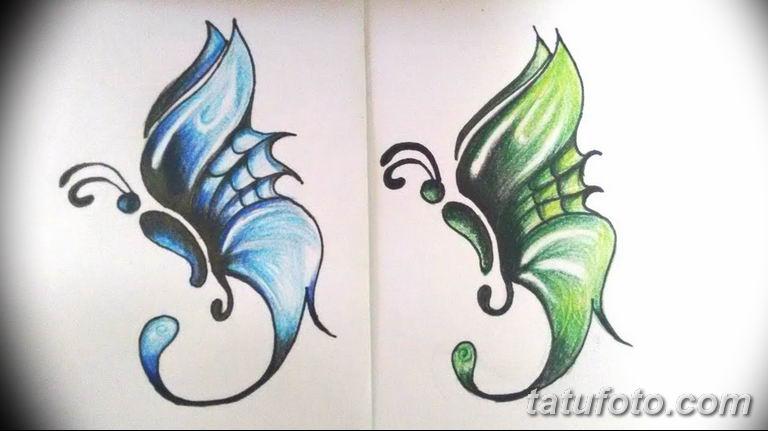 черно белый эскиз тату рисункок бабочка 11.03.2019 №113 - tattoo sketch - tatufoto.com