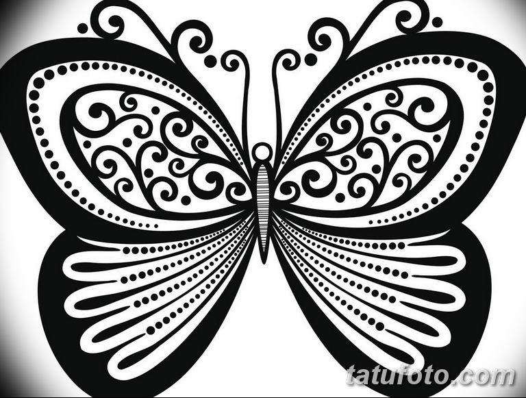 черно белый эскиз тату рисункок бабочка 11.03.2019 №114 - tattoo sketch - tatufoto.com