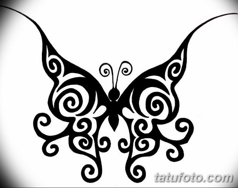 черно белый эскиз тату рисункок бабочка 11.03.2019 №117 - tattoo sketch - tatufoto.com