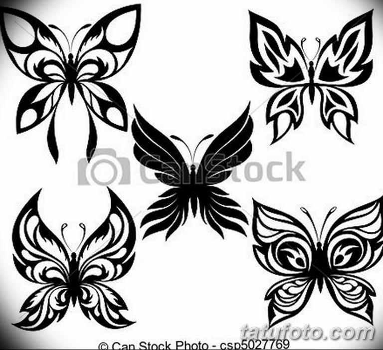 черно белый эскиз тату рисункок бабочка 11.03.2019 №118 - tattoo sketch - tatufoto.com