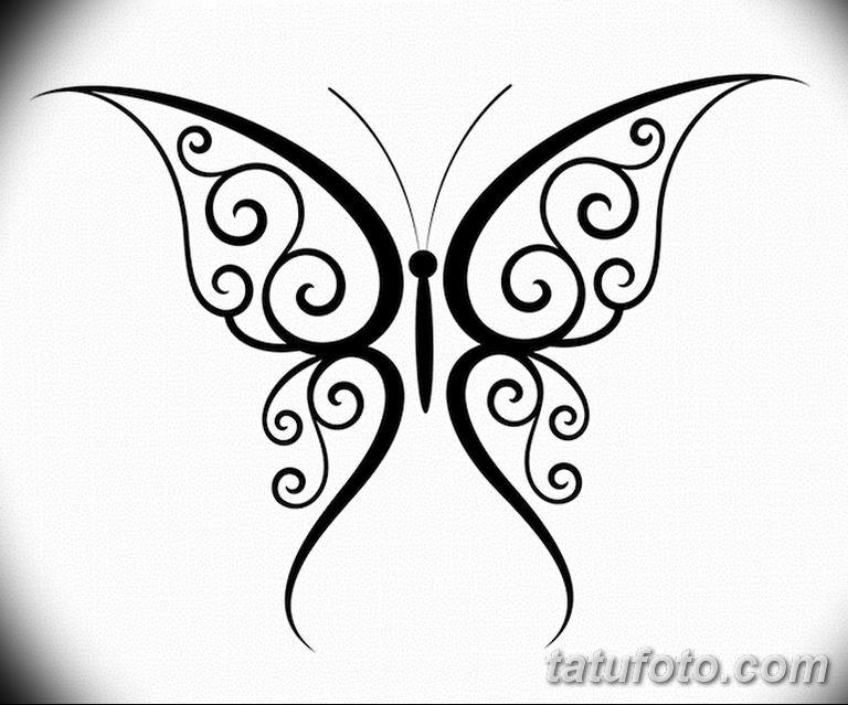 черно белый эскиз тату рисункок бабочка 11.03.2019 №120 - tattoo sketch - tatufoto.com