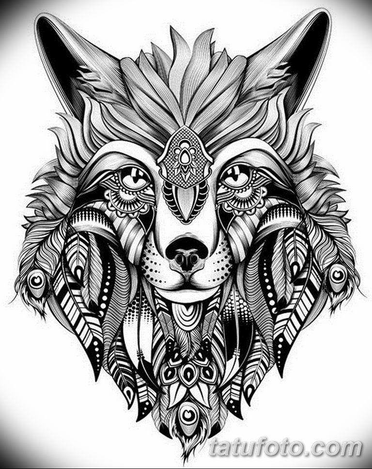 черно белый эскиз тату рисункок вариант 11.03.2019 №003 - tattoo sketch - tatufoto.com