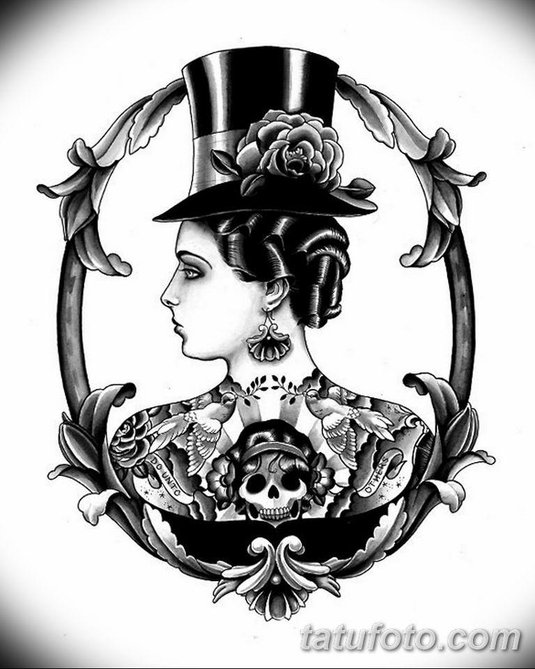 черно белый эскиз тату рисункок вариант 11.03.2019 №005 - tattoo sketch - tatufoto.com