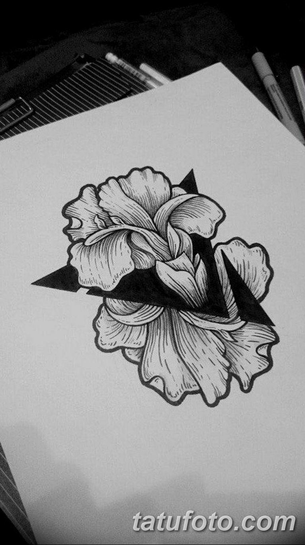 черно белый эскиз тату рисункок вариант 11.03.2019 №018 - tattoo sketch - tatufoto.com