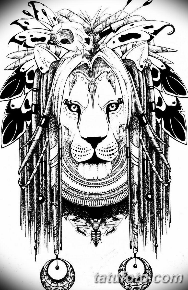 черно белый эскиз тату рисункок вариант 11.03.2019 №021 - tattoo sketch - tatufoto.com