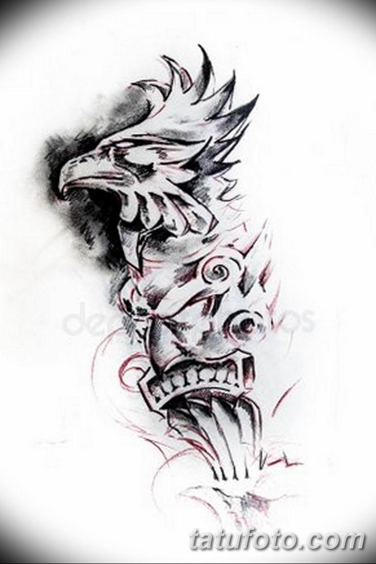 черно белый эскиз тату рисункок вариант 11.03.2019 №036 - tattoo sketch - tatufoto.com