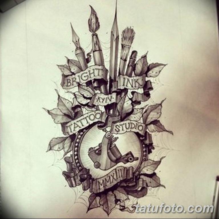 черно белый эскиз тату рисункок вариант 11.03.2019 №038 - tattoo sketch - tatufoto.com