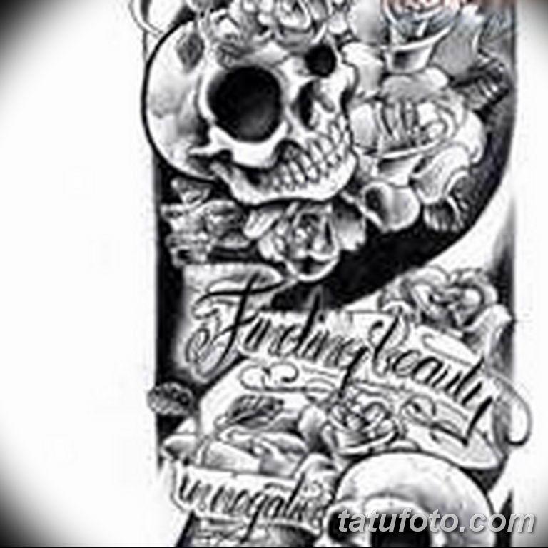 черно белый эскиз тату рисункок вариант 11.03.2019 №046 - tattoo sketch - tatufoto.com