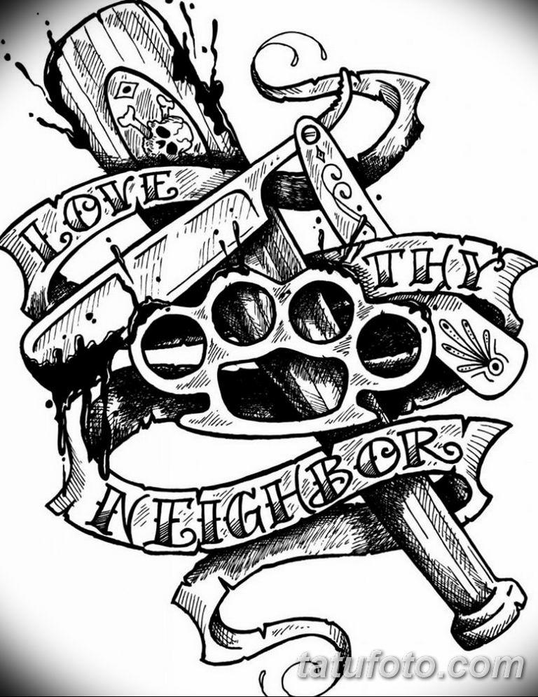черно белый эскиз тату рисункок вариант 11.03.2019 №053 - tattoo sketch - tatufoto.com