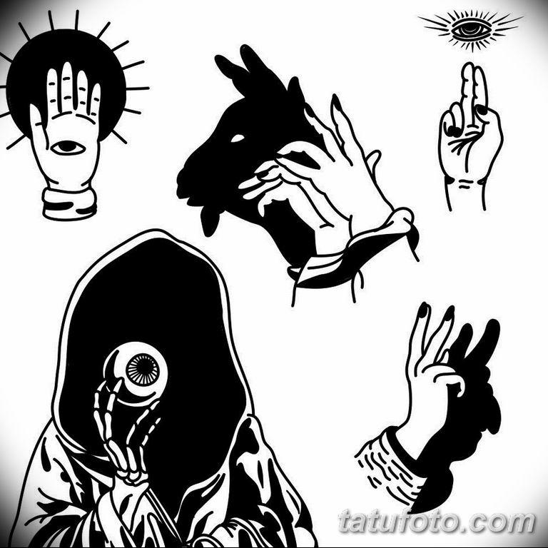 черно белый эскиз тату рисункок вариант 11.03.2019 №057 - tattoo sketch - tatufoto.com