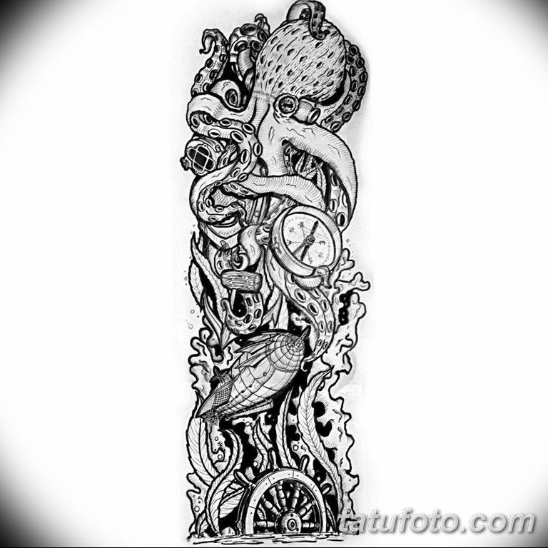 черно белый эскиз тату рисункок вариант 11.03.2019 №059 - tattoo sketch - tatufoto.com