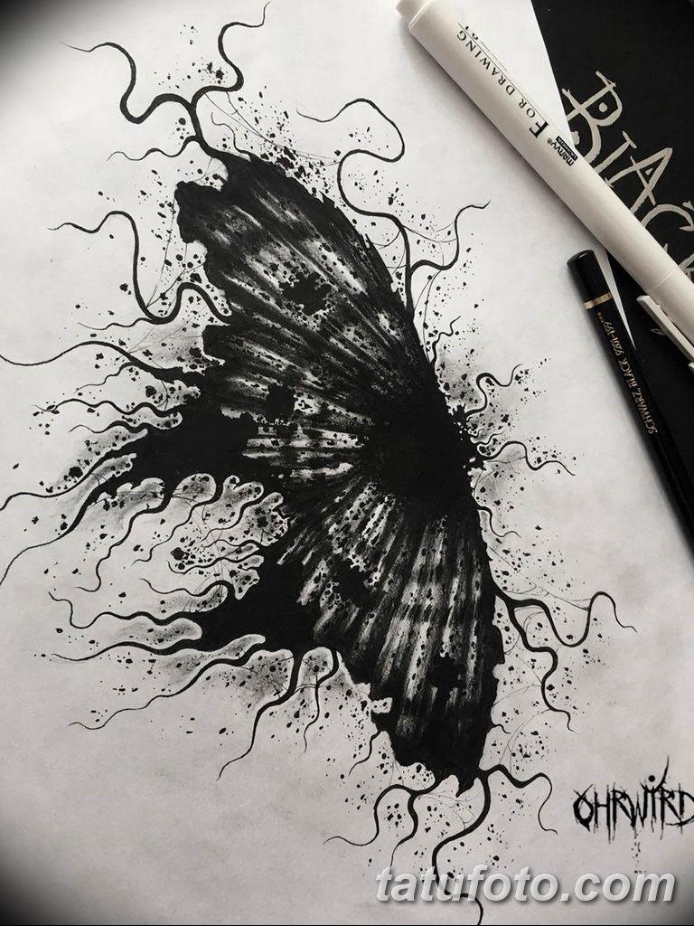 черно белый эскиз тату рисункок вариант 11.03.2019 №070 - tattoo sketch - tatufoto.com