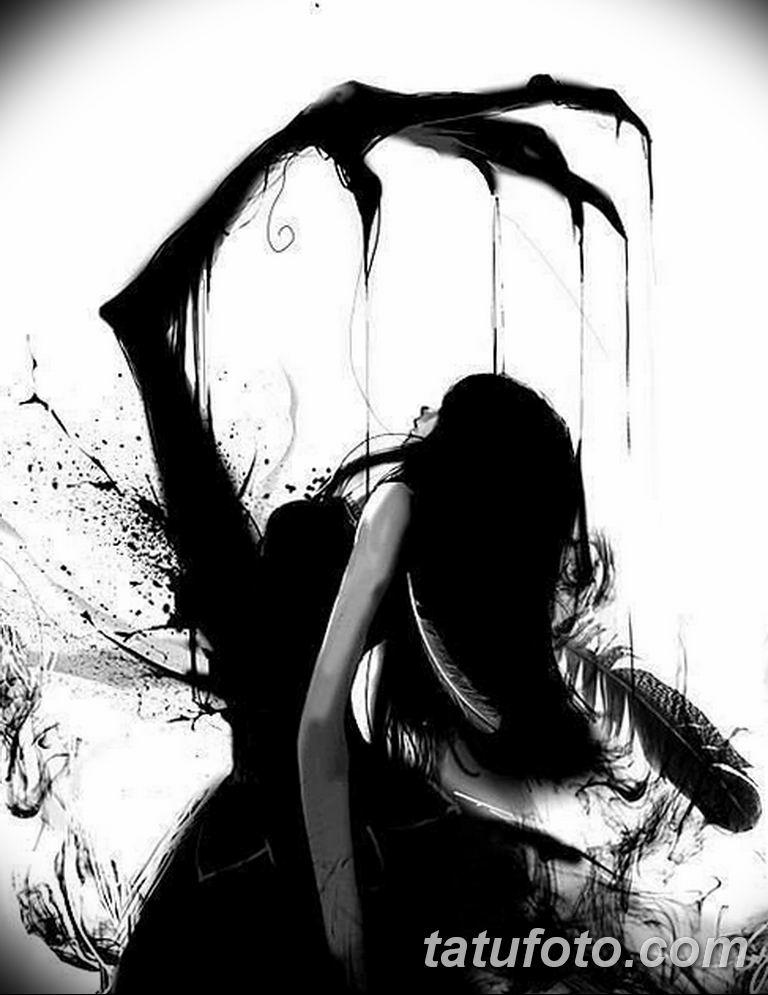 черно белый эскиз тату рисункок вариант 11.03.2019 №072 - tattoo sketch - tatufoto.com