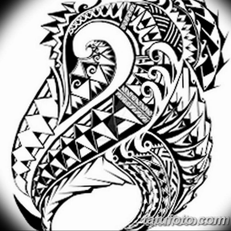 черно белый эскиз тату рисункок вариант 11.03.2019 №077 - tattoo sketch - tatufoto.com
