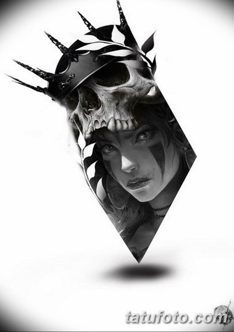 черно белый эскиз тату рисункок вариант 11.03.2019 №078 - tattoo sketch - tatufoto.com
