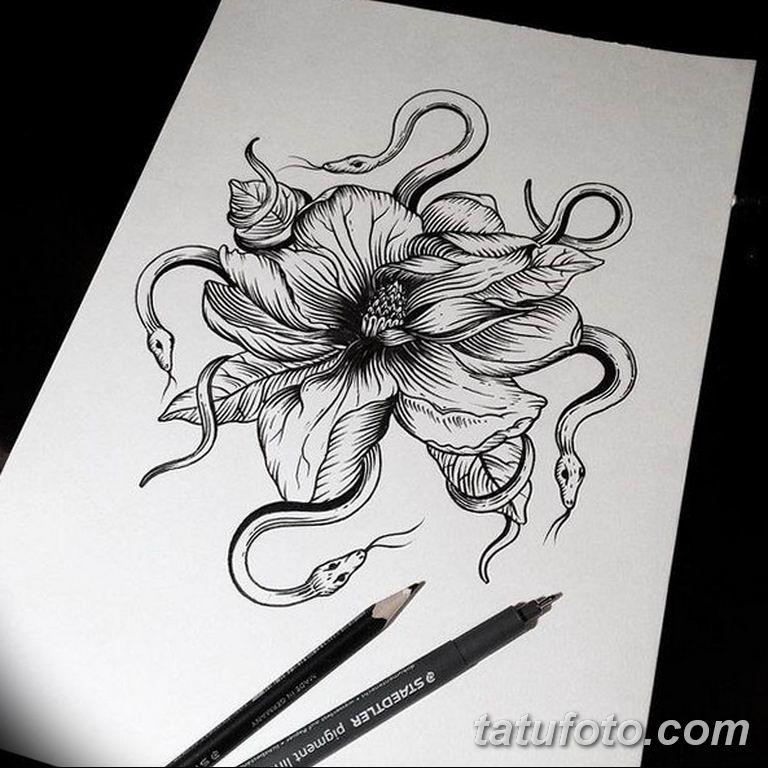 черно белый эскиз тату рисункок вариант 11.03.2019 №089 - tattoo sketch - tatufoto.com
