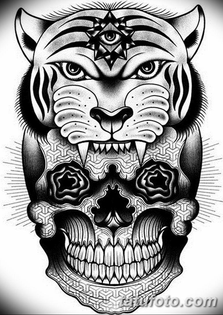 черно белый эскиз тату рисункок вариант 11.03.2019 №098 - tattoo sketch - tatufoto.com