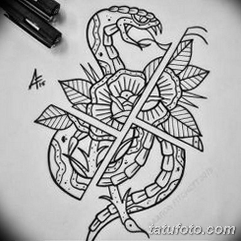 черно белый эскиз тату рисункок вариант 11.03.2019 №100 - tattoo sketch - tatufoto.com