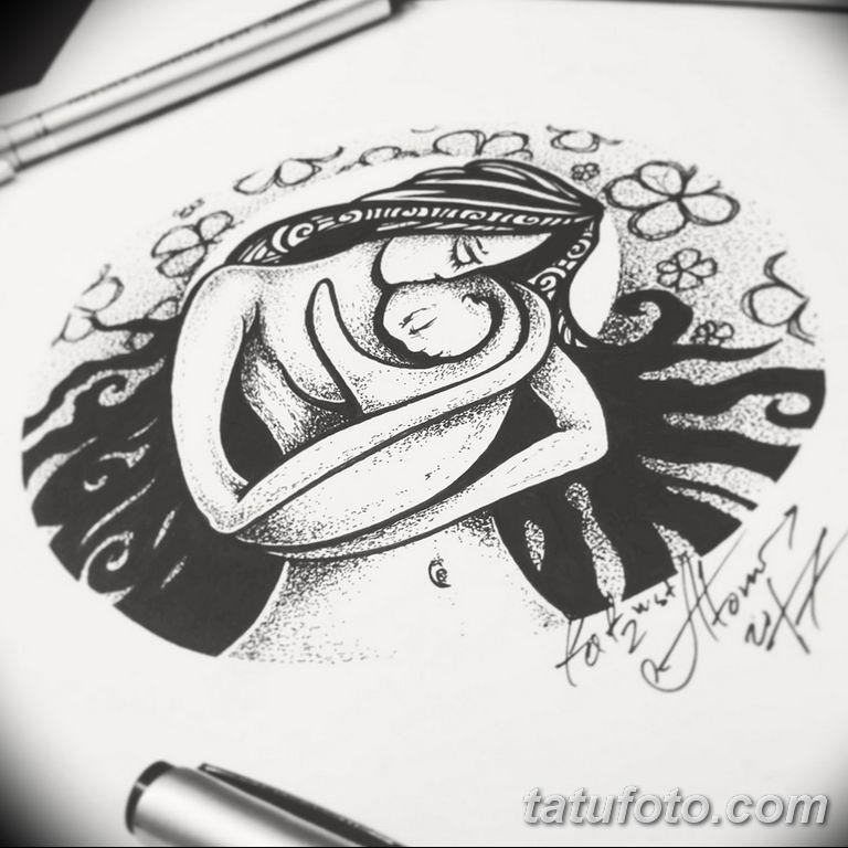 черно белый эскиз тату рисункок вариант 11.03.2019 №102 - tattoo sketch - tatufoto.com