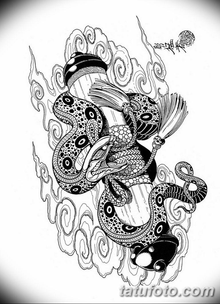 черно белый эскиз тату рисункок вариант 11.03.2019 №105 - tattoo sketch - tatufoto.com