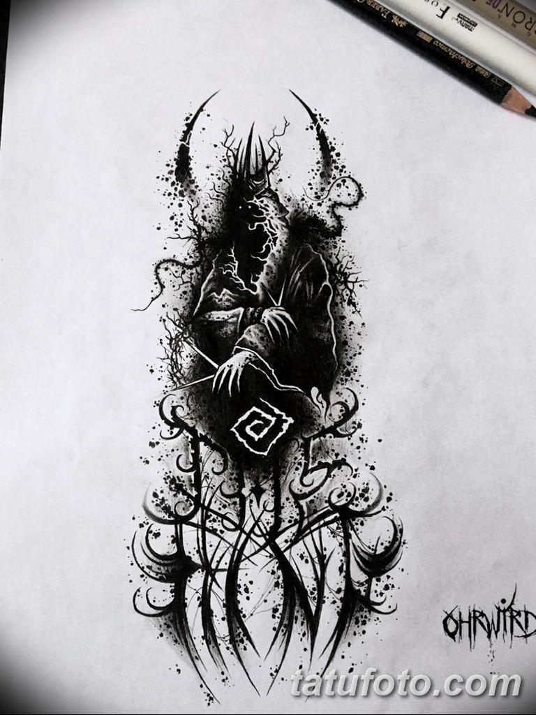черно белый эскиз тату рисункок вариант 11.03.2019 №120 - tattoo sketch - tatufoto.com