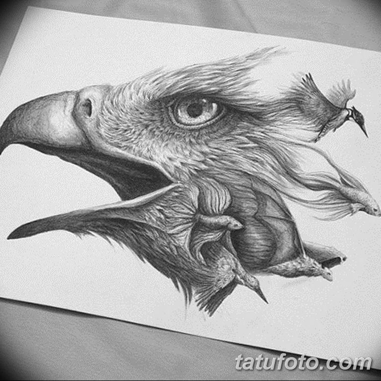 черно белый эскиз тату рисункок вариант 11.03.2019 №128 - tattoo sketch - tatufoto.com