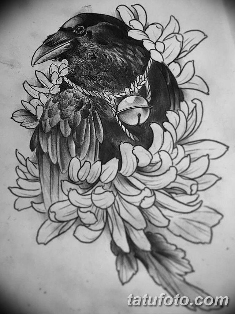 черно белый эскиз тату рисункок вариант 11.03.2019 №136 - tattoo sketch - tatufoto.com