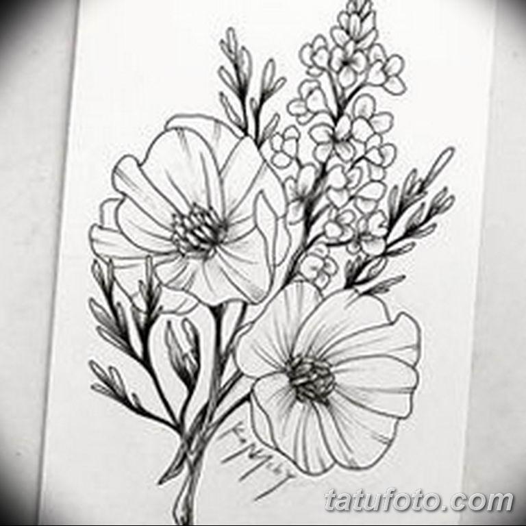 черно белый эскиз тату рисункок веточки 11.03.2019 №013 - tattoo sketch - tatufoto.com