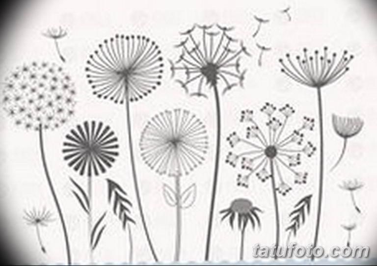 черно белый эскиз тату рисункок веточки 11.03.2019 №019 - tattoo sketch - tatufoto.com