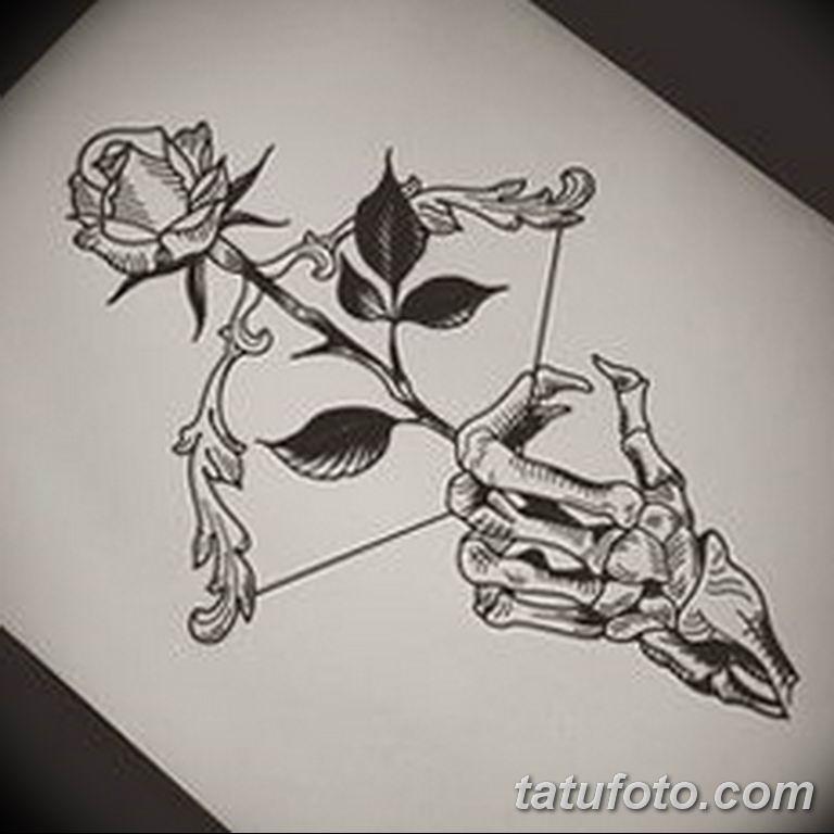 черно белый эскиз тату рисункок веточки 11.03.2019 №023 - tattoo sketch - tatufoto.com