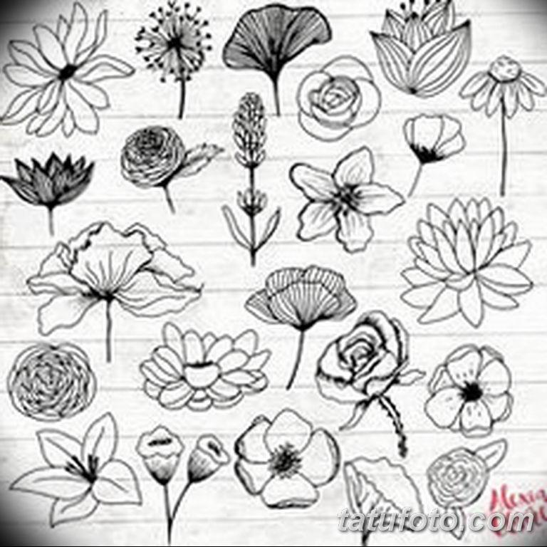 черно белый эскиз тату рисункок веточки 11.03.2019 №025 - tattoo sketch - tatufoto.com