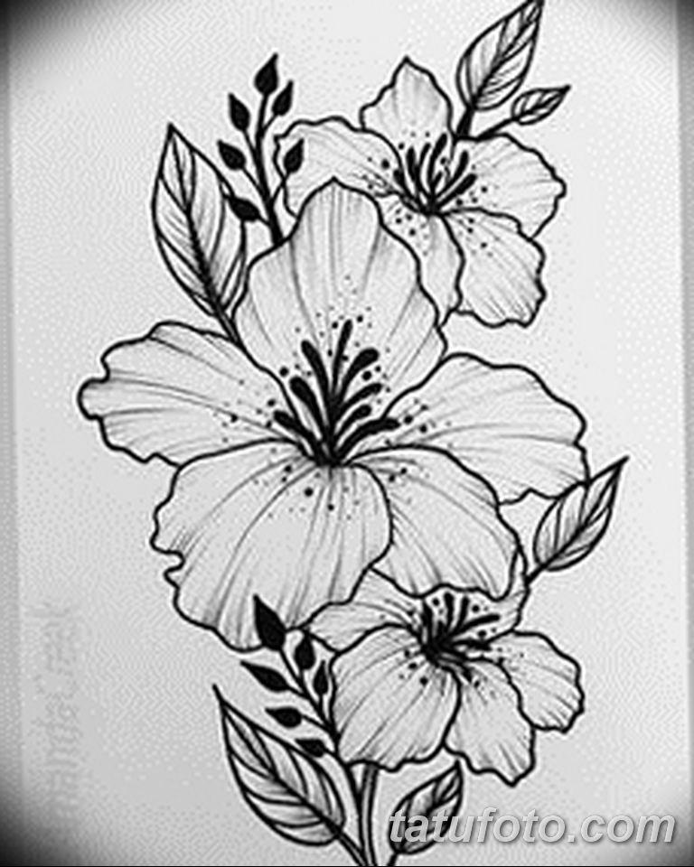 черно белый эскиз тату рисункок веточки 11.03.2019 №032 - tattoo sketch - tatufoto.com