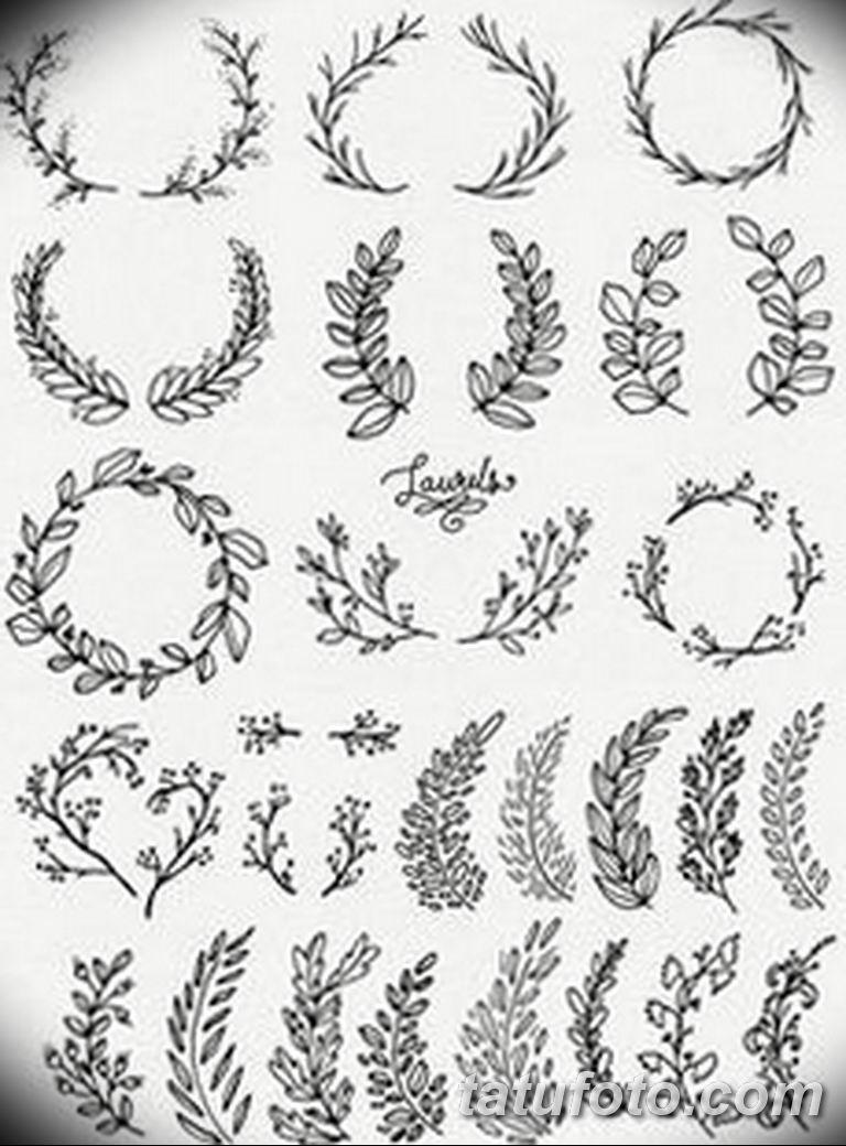 черно белый эскиз тату рисункок веточки 11.03.2019 №036 - tattoo sketch - tatufoto.com