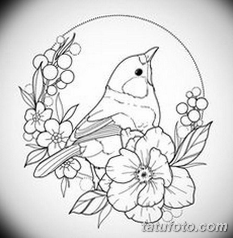 черно белый эскиз тату рисункок веточки 11.03.2019 №037 - tattoo sketch - tatufoto.com