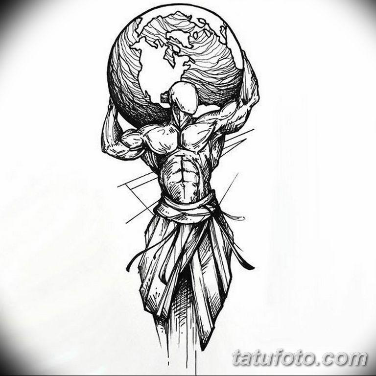 черно белый эскиз тату рисункок для парней11.03.2019 №001 - tattoo sketch - tatufoto.com