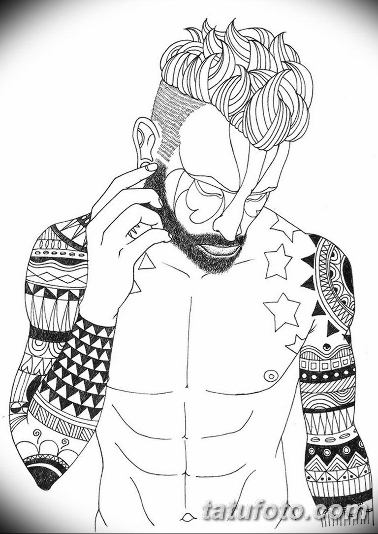 черно белый эскиз тату рисункок для парней11.03.2019 №008 - tattoo sketch - tatufoto.com