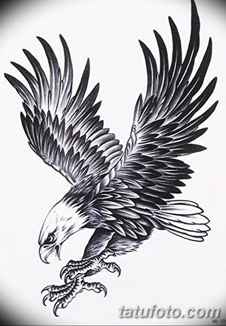 Черно белый эскиз тату с цветами: черно белый эскиз тату рисункок орел 11.03.2019 №035