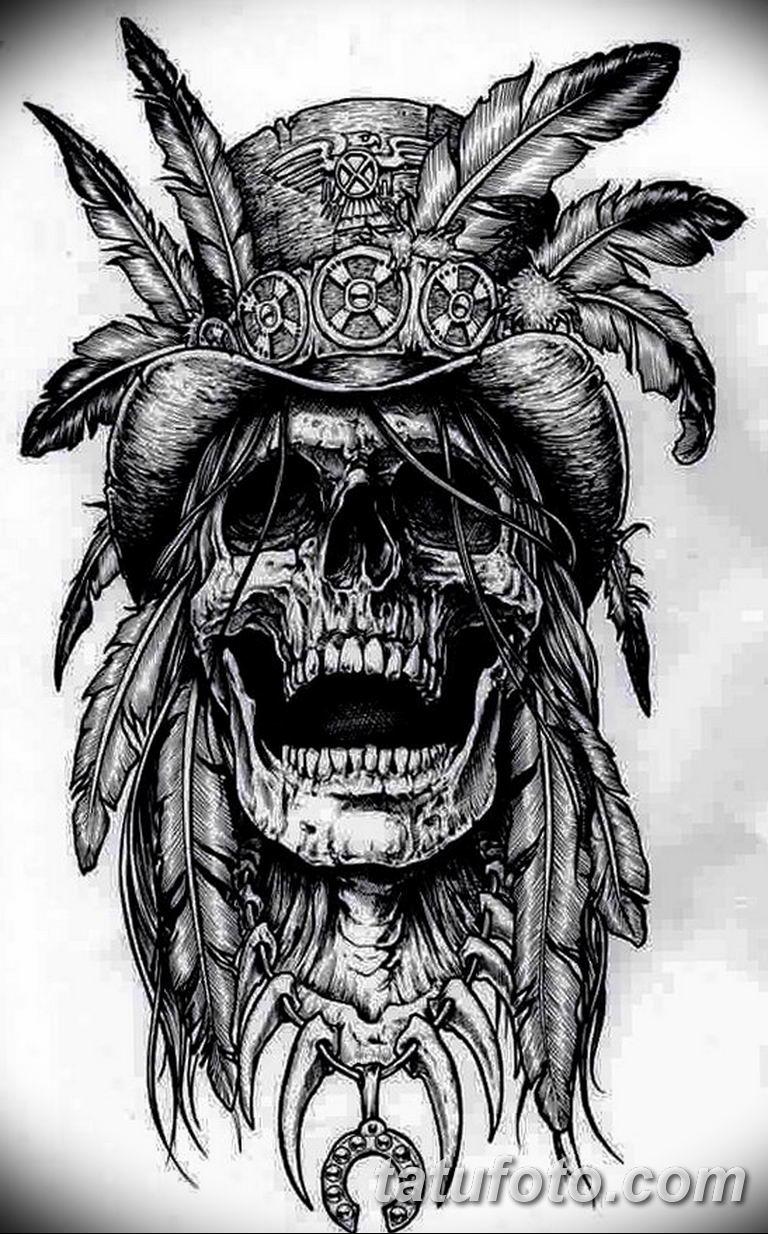 Черно белый эскиз тату с цветами: черно белый эскиз тату с черепом 11.03.2019 №025