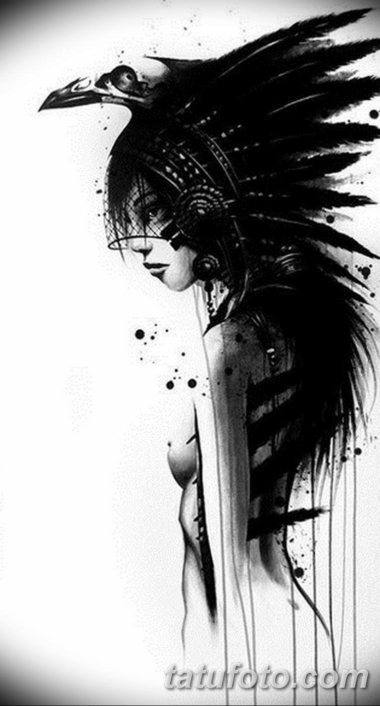 черный тату эскиз для девушки 08.03.2019 №014 - tattoo sketches - tatufoto.com