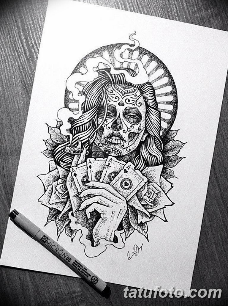черный тату эскиз для девушки 08.03.2019 №018 - tattoo sketches - tatufoto.com