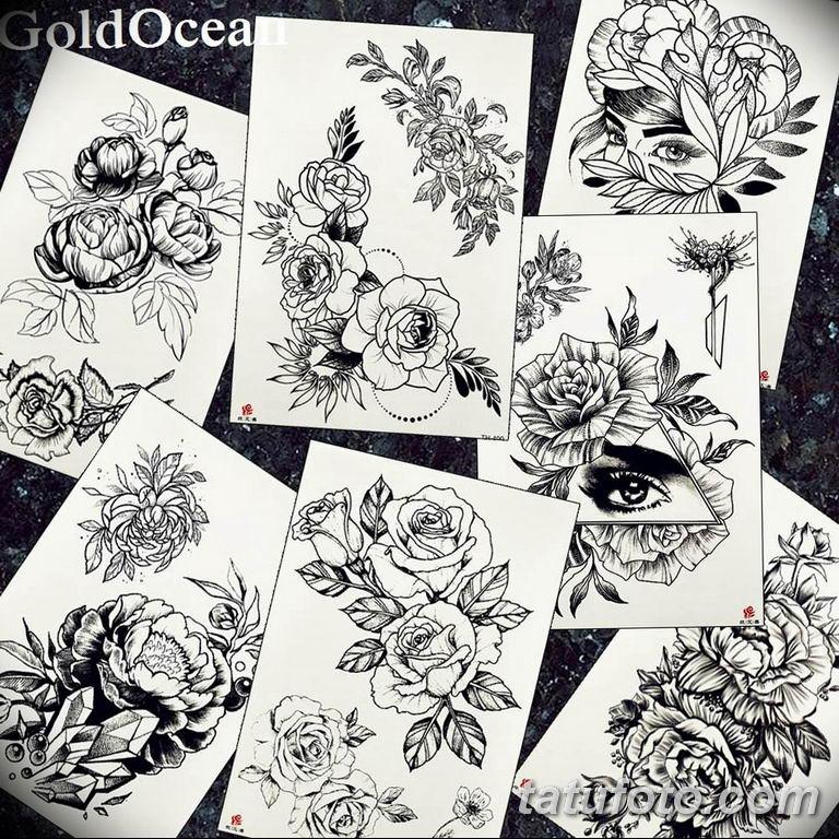 черный тату эскиз для девушки 08.03.2019 №032 - tattoo sketches - tatufoto.com