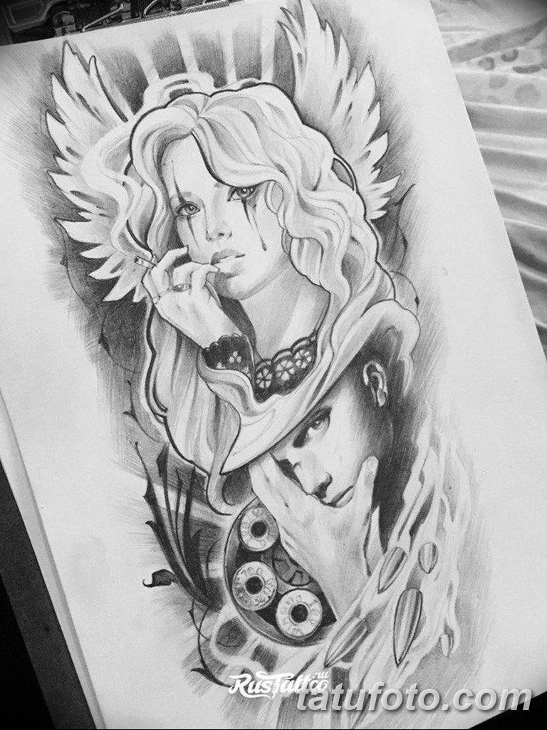 черный тату эскиз для девушки 08.03.2019 №054 - tattoo sketches - tatufoto.com
